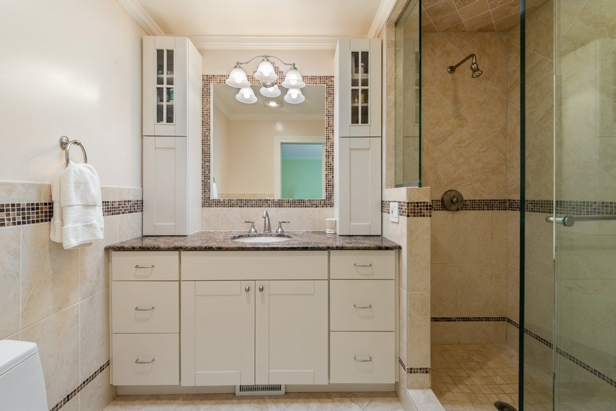 Real Estate Photography - 1839A N. Hudson, Chicago, IL, 60614 - Master Bathroom