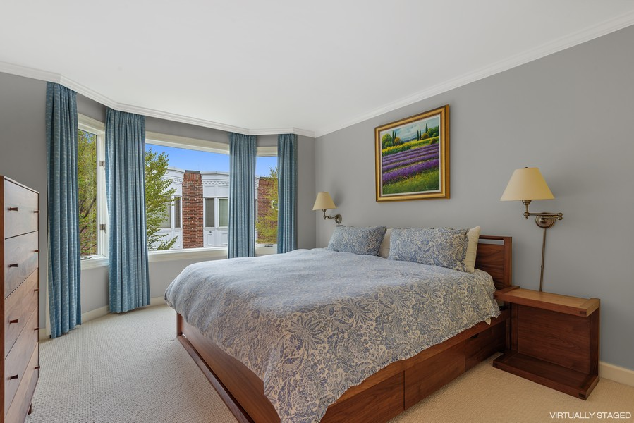 Real Estate Photography - 1839A N. Hudson, Chicago, IL, 60614 - Master Bedroom