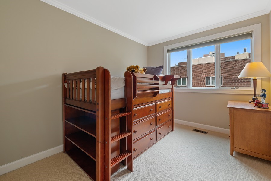 Real Estate Photography - 1839A N. Hudson, Chicago, IL, 60614 - 3rd Bedroom