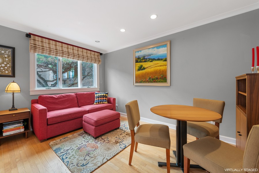 Real Estate Photography - 1839A N. Hudson, Chicago, IL, 60614 - Family Room