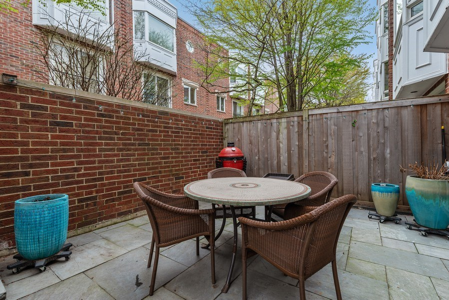Real Estate Photography - 1839A N. Hudson, Chicago, IL, 60614 - Patio