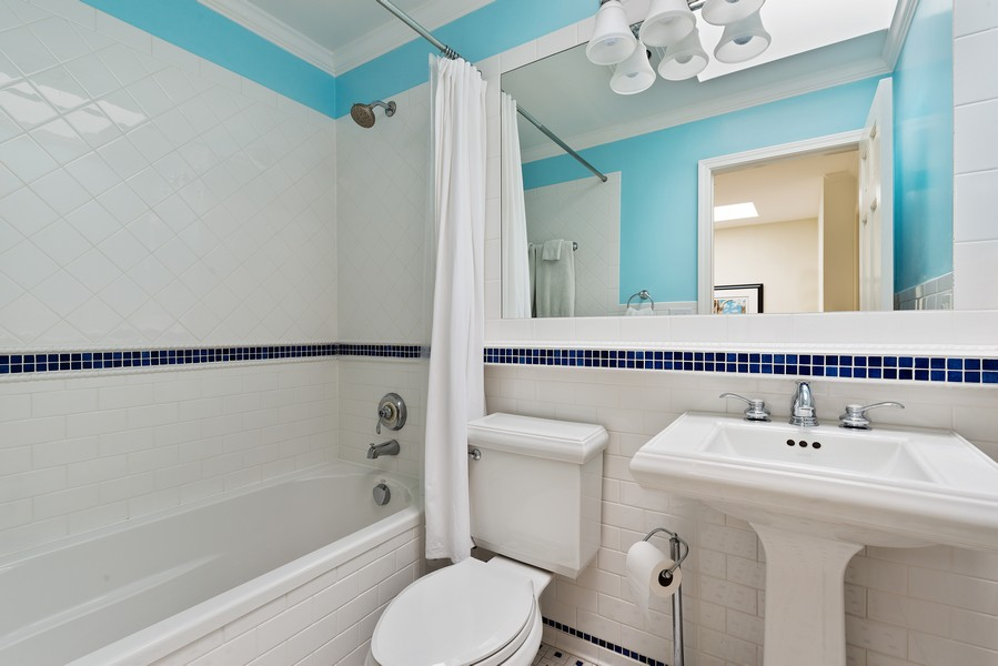 Real Estate Photography - 1839A N. Hudson, Chicago, IL, 60614 - 2nd Bathroom