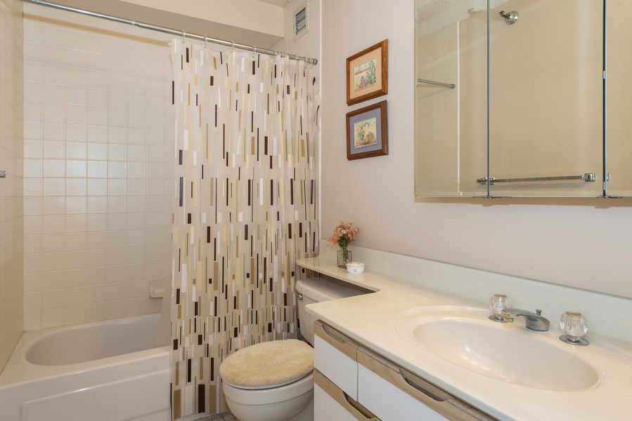 Real Estate Photography - 1250 N Dearborn #16E, Chicago, IL, 60610 - 2nd Bathroom