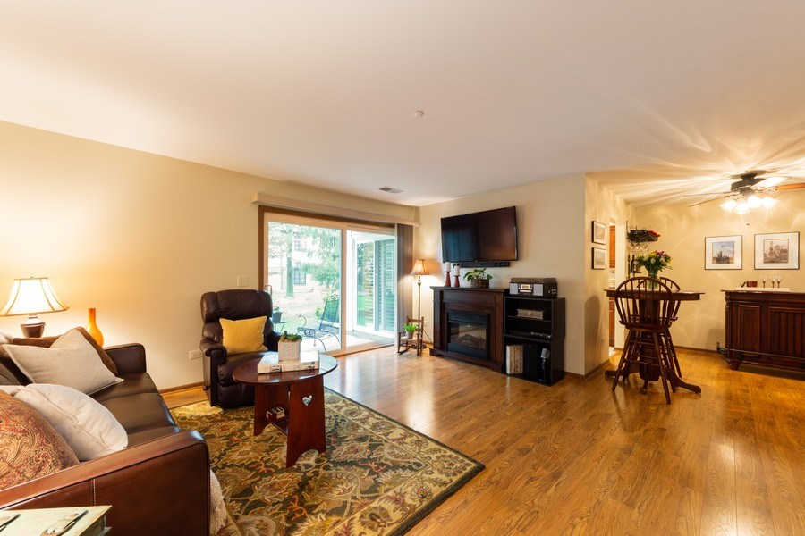 Real Estate Photography - 1723 W. HAWKES STREET, Unit 1, ARLINGTON HEIGHTS, IL, 60004 - Living Room/Dining Room