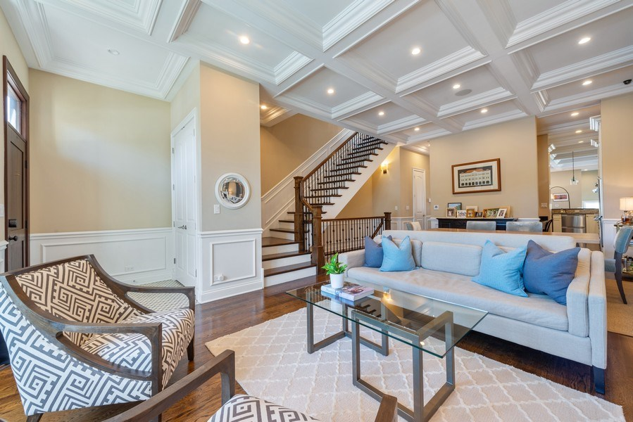 Real Estate Photography - 1312 W Barry, Chicago, IL, 60657 - Living Room