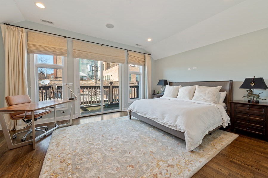 Real Estate Photography - 1312 W Barry, Chicago, IL, 60657 - Master Bedroom