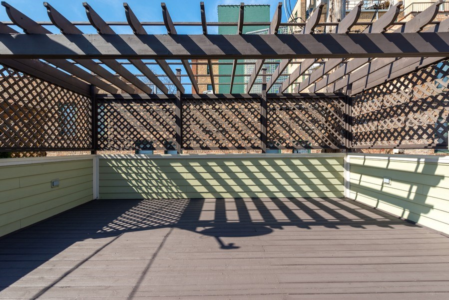 Real Estate Photography - 1312 W Barry, Chicago, IL, 60657 - Garage Roof Top Deck