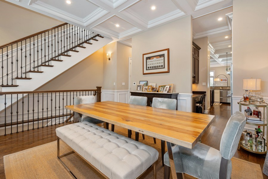 Real Estate Photography - 1312 W Barry, Chicago, IL, 60657 - Dining Room