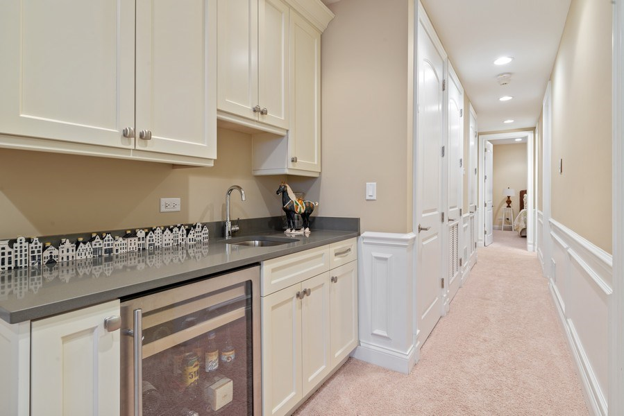 Real Estate Photography - 1312 W Barry, Chicago, IL, 60657 - Lower Level Wet Bar