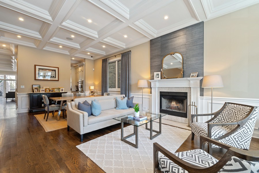 Real Estate Photography - 1312 W Barry, Chicago, IL, 60657 - Living Room / Dining Room