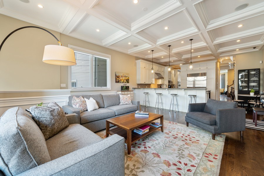 Real Estate Photography - 1312 W Barry, Chicago, IL, 60657 - Family Room / Kitchen