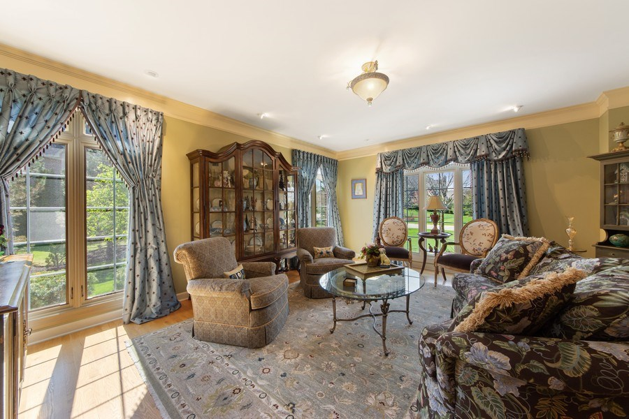 Real Estate Photography - 22393 North Prairie Lane, Kildeer, IL, 60047 - Living Room