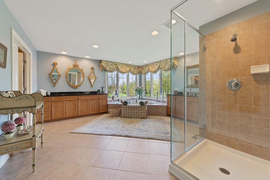 Real Estate Photography - 22393 North Prairie Lane, Kildeer, IL, 60047 - Master Bathroom