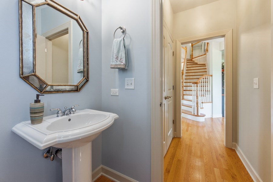 Real Estate Photography - 22393 North Prairie Lane, Kildeer, IL, 60047 - Powder Room