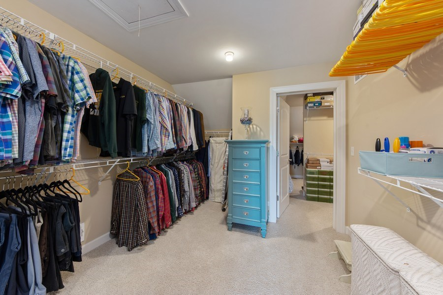 Real Estate Photography - 22393 North Prairie Lane, Kildeer, IL, 60047 - Master Bedroom Closet