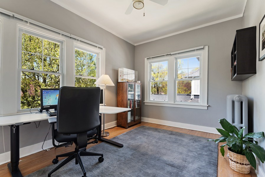 Real Estate Photography - 2246 Ridge, Evanston, IL, 60201 - 3rd Bedroom