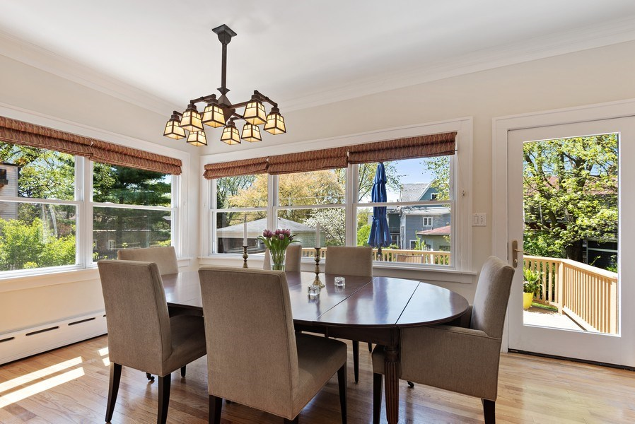 Real Estate Photography - 2246 Ridge, Evanston, IL, 60201 - Dining Room