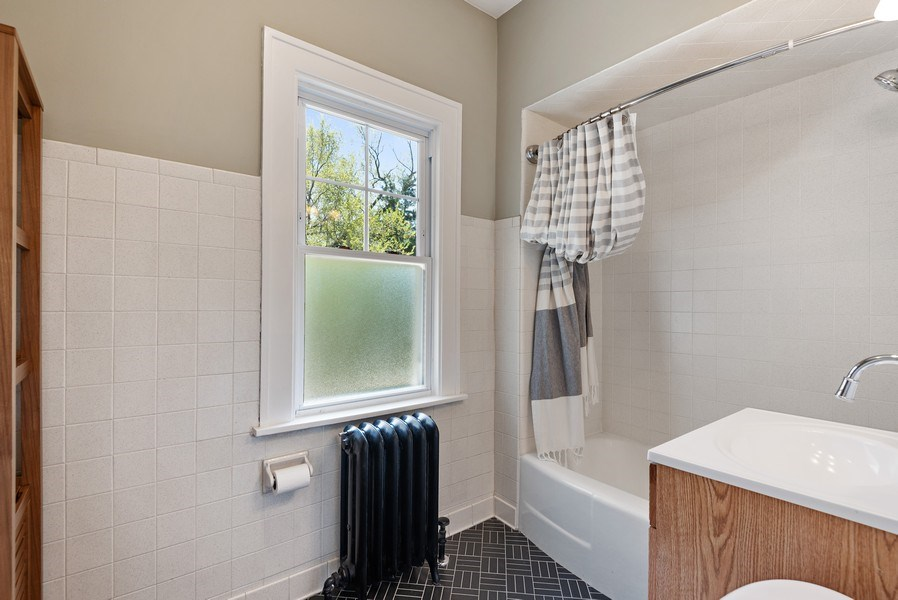 Real Estate Photography - 2246 Ridge, Evanston, IL, 60201 - Bathroom