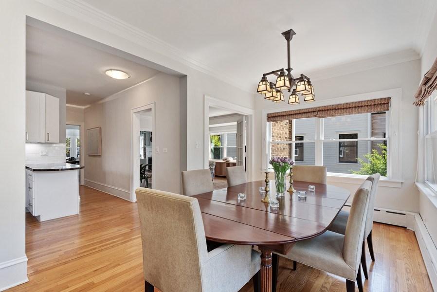 Real Estate Photography - 2246 Ridge, Evanston, IL, 60201 - Kitchen / Dining Room
