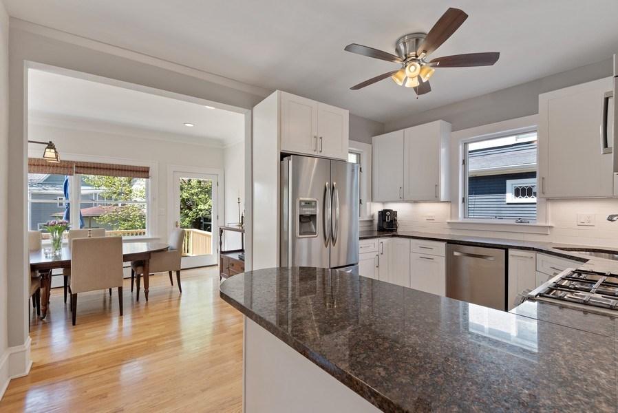 Real Estate Photography - 2246 Ridge, Evanston, IL, 60201 - Kitchen/Dining