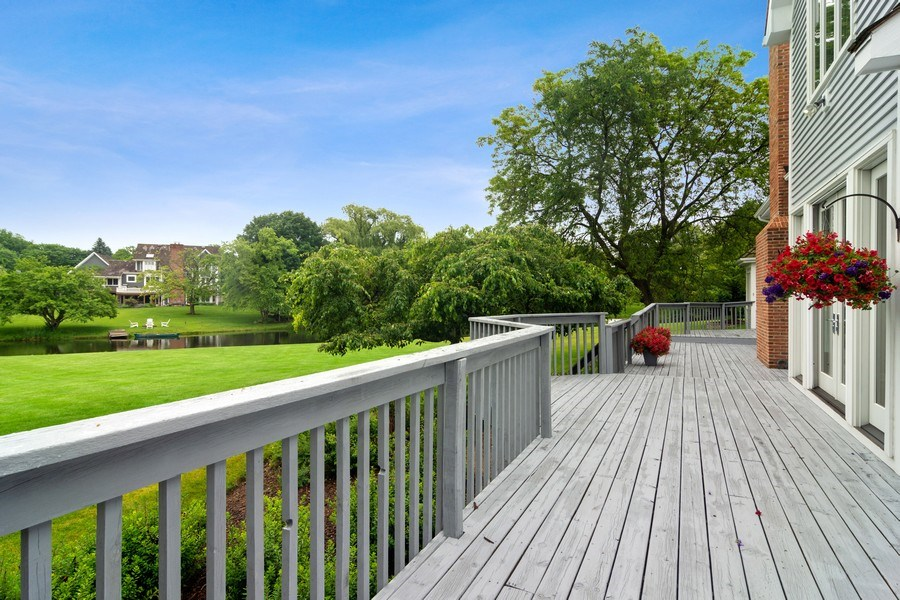 Real Estate Photography - 20823 North Meadow Court, Deer Park, IL, 60010 - Deck