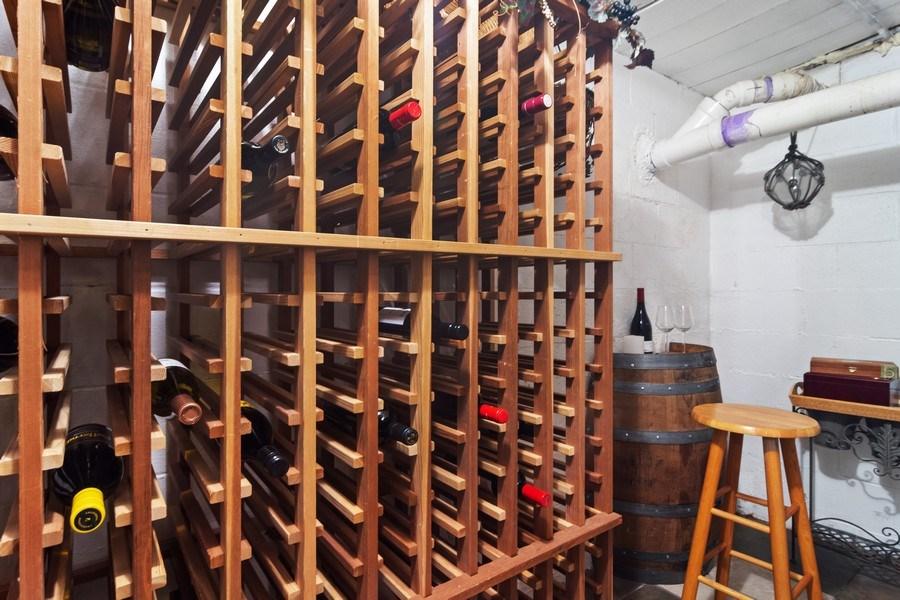 Real Estate Photography - 102 Mohawk Drive, North Barrington, IL, 60010 - Wine Cellar