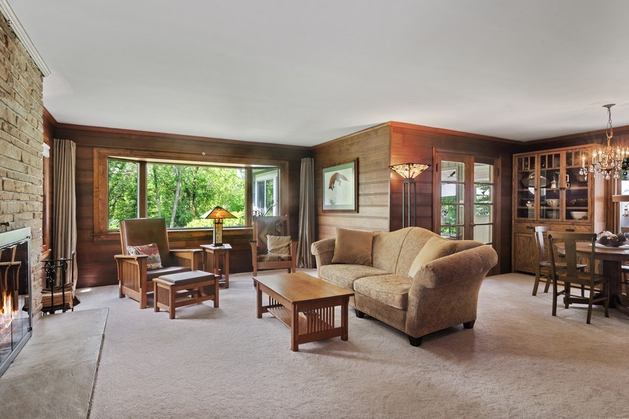 Real Estate Photography - 102 Mohawk Drive, North Barrington, IL, 60010 - Living Room / Dining Room