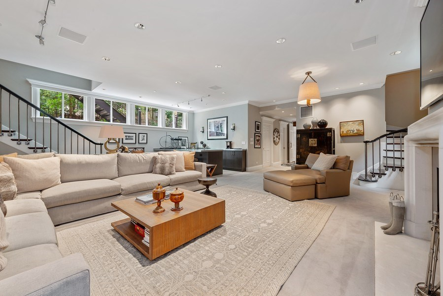 Real Estate Photography - 1239 W. Altgeld, Chicago, IL, 60614 - Family/Media Room