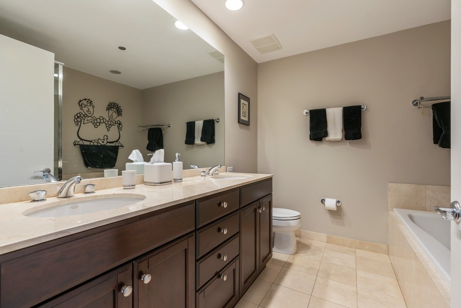 Real Estate Photography - 530 N Lake Shore Dr, Unit 2002, Chicago, IL, 60611 - Master Bathroom