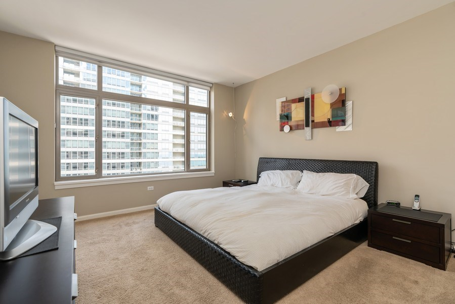 Real Estate Photography - 530 N Lake Shore Dr, Unit 2002, Chicago, IL, 60611 - Master Bedroom