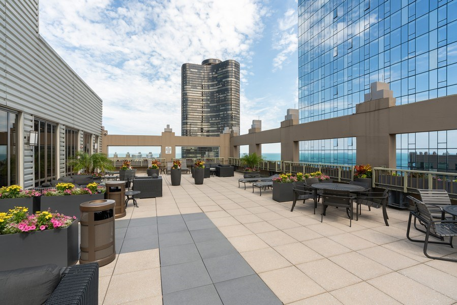 Real Estate Photography - 530 N Lake Shore Dr, Unit 2002, Chicago, IL, 60611 - Roof Deck