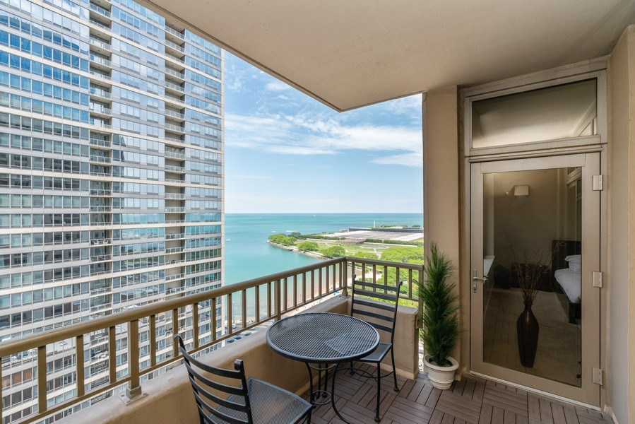Real Estate Photography - 530 N Lake Shore Dr, Unit 2002, Chicago, IL, 60611 - Balcony