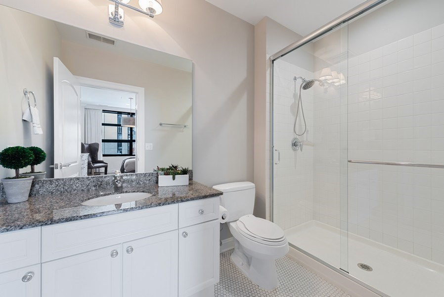 Real Estate Photography - 101 W Superior, Unit 502, Chicago, IL, 60610 - 3rd Bathroom