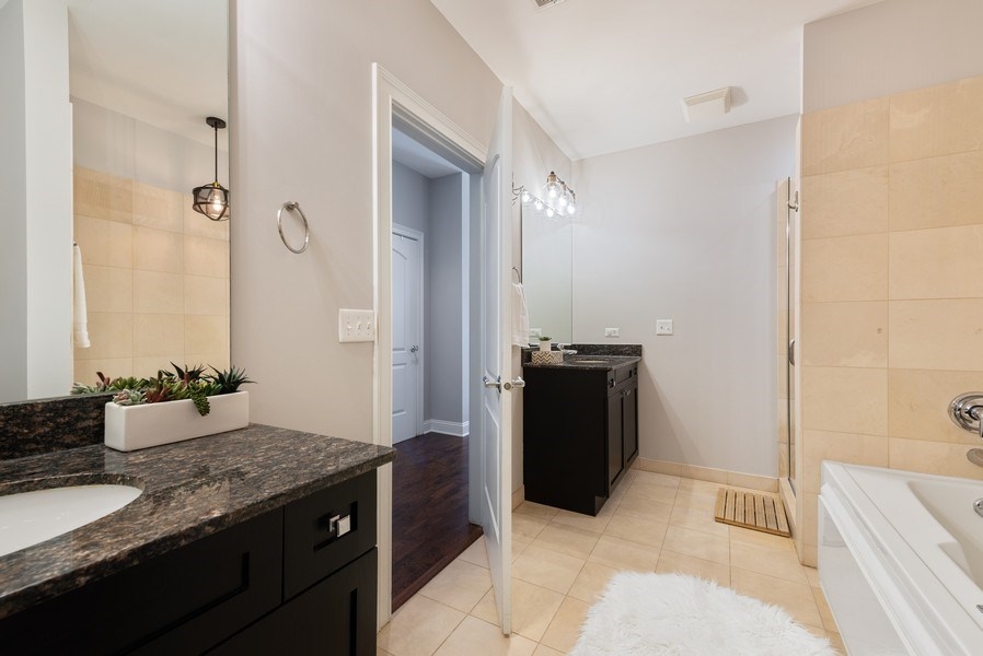 Real Estate Photography - 101 W Superior, Unit 502, Chicago, IL, 60610 - Master Bathroom
