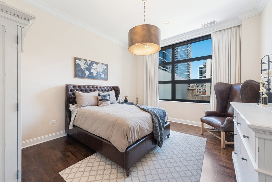 Real Estate Photography - 101 W Superior, Unit 502, Chicago, IL, 60610 - 2nd Bedroom