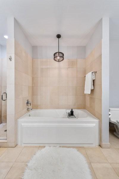 Real Estate Photography - 101 W Superior, Unit 502, Chicago, IL, 60610 - Master Bathroom