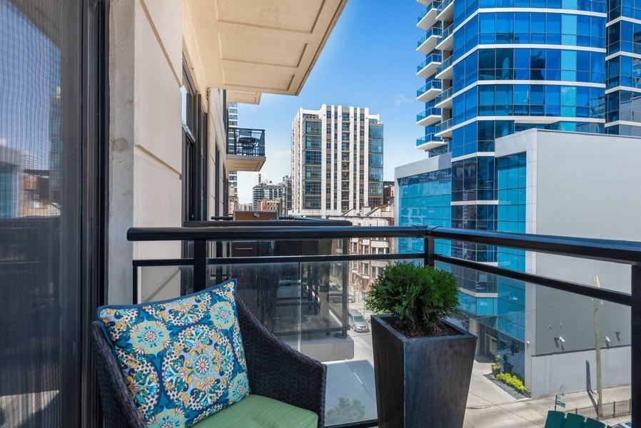 Real Estate Photography - 101 W Superior, Unit 502, Chicago, IL, 60610 - Balcony