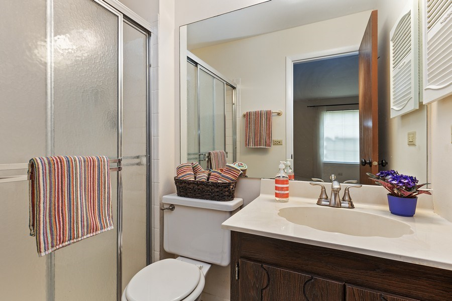 Real Estate Photography - 1180 Northbury Lane #B1, Wheeling, IL, 60090 - Master Bathroom