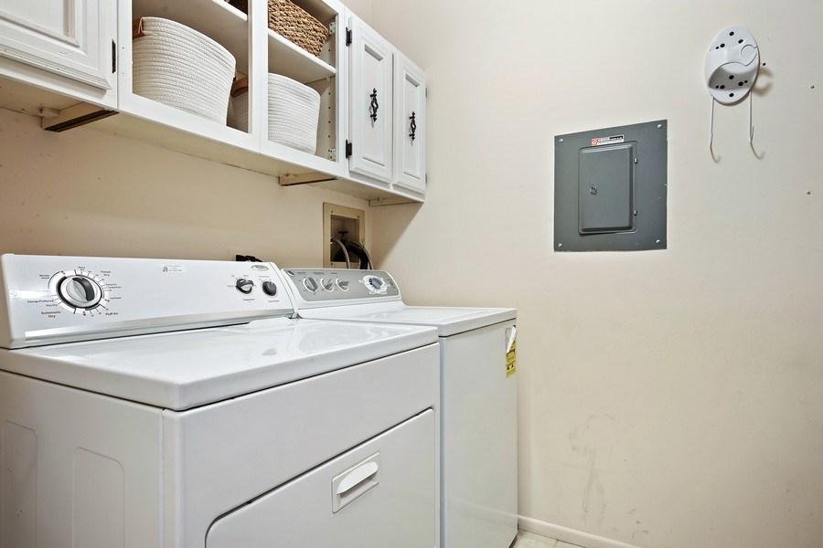 Real Estate Photography - 1180 Northbury Lane #B1, Wheeling, IL, 60090 - Laundry Room