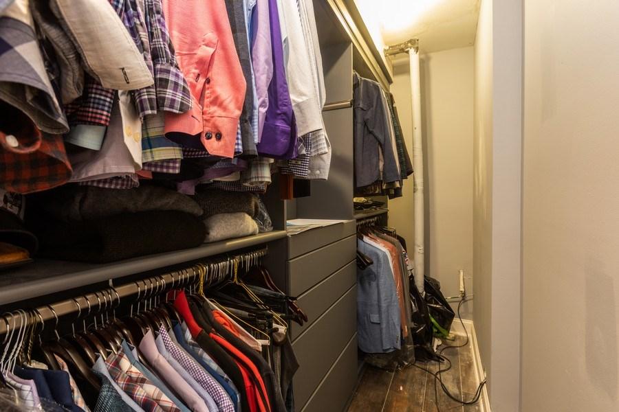 Real Estate Photography - 1704 S. Carpenter, 1B, Chicago, IL, 60608 - Master Bedroom Closet
