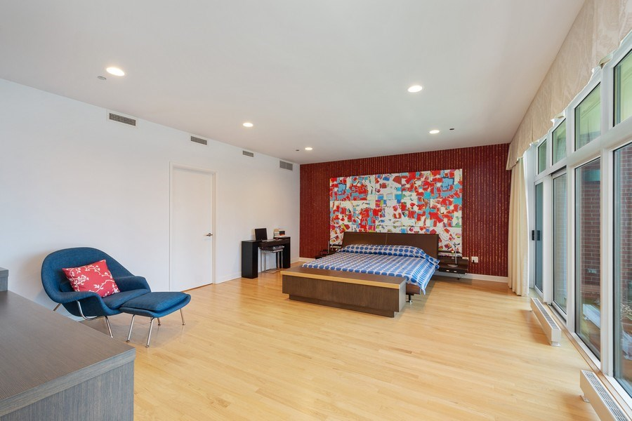 Real Estate Photography - 415 E North Water St, Unit 1605, Chicago, IL, 60611 - Master Bedroom
