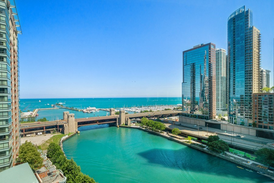 Real Estate Photography - 415 E North Water St, Unit 1605, Chicago, IL, 60611 - View