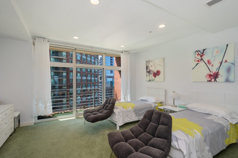 Real Estate Photography - 415 E North Water St, Unit 1605, Chicago, IL, 60611 - 3rd Bedroom
