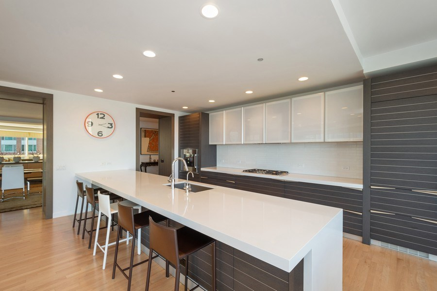 Real Estate Photography - 415 E North Water St, Unit 1605, Chicago, IL, 60611 - Kitchen