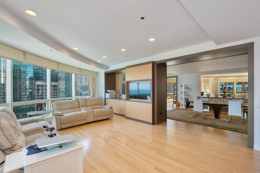 Real Estate Photography - 415 E North Water St, Unit 1605, Chicago, IL, 60611 - Family Room