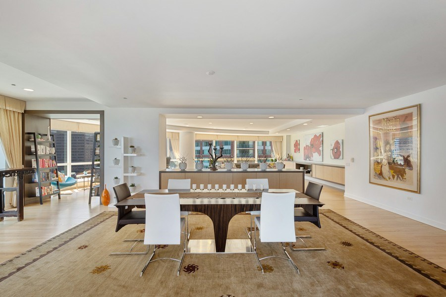 Real Estate Photography - 415 E North Water St, Unit 1605, Chicago, IL, 60611 - Dining Area