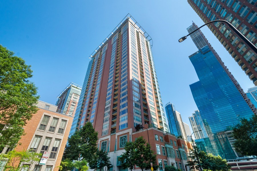 Real Estate Photography - 415 E North Water St, Unit 1605, Chicago, IL, 60611 - Front View