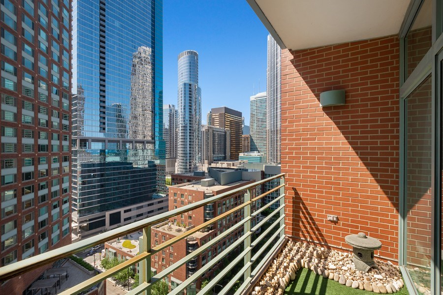 Real Estate Photography - 415 E North Water St, Unit 1605, Chicago, IL, 60611 - Balcony
