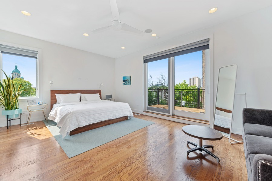 Real Estate Photography - 2144 W Rice St, #3W, Chicago, IL, 60622 - Master Bedroom