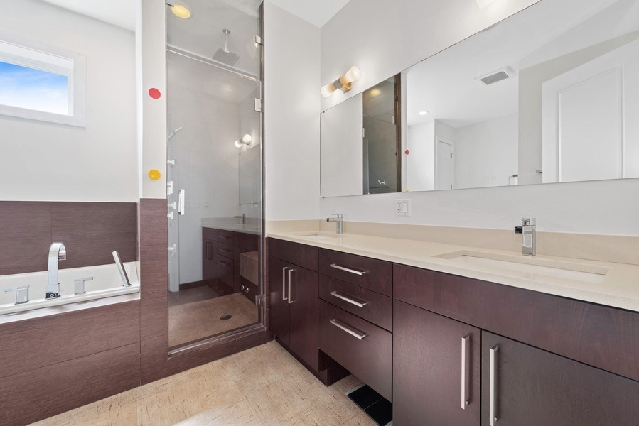 Real Estate Photography - 2144 W Rice St, #3W, Chicago, IL, 60622 - Master Bathroom